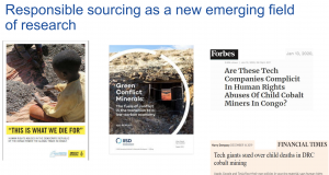 Responsible sourcing as a new emerging field of research